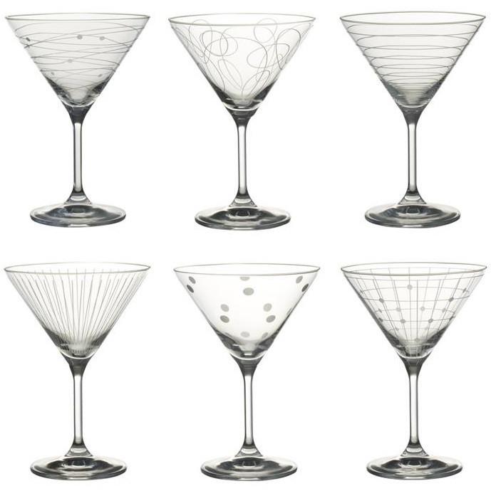 Coffret 6 flûtes à champagne graphik 19 cl Cristallin 5 cm table passion